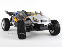 Truggy 1/10 Off road con Motore a scoppio GO.18 a 2 Marce - Radio 2.4 GHz - 4WD - RTR - RH1022 BULLDOG N.2 VRX