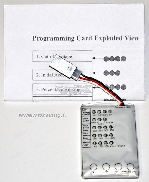 Program card 1/8 Brushless (regolatori brushless da 80A e 120A) Off-Road VRX