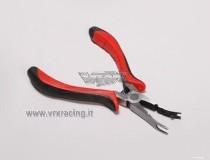Pinza leva uniball in acciaio (rossa)
