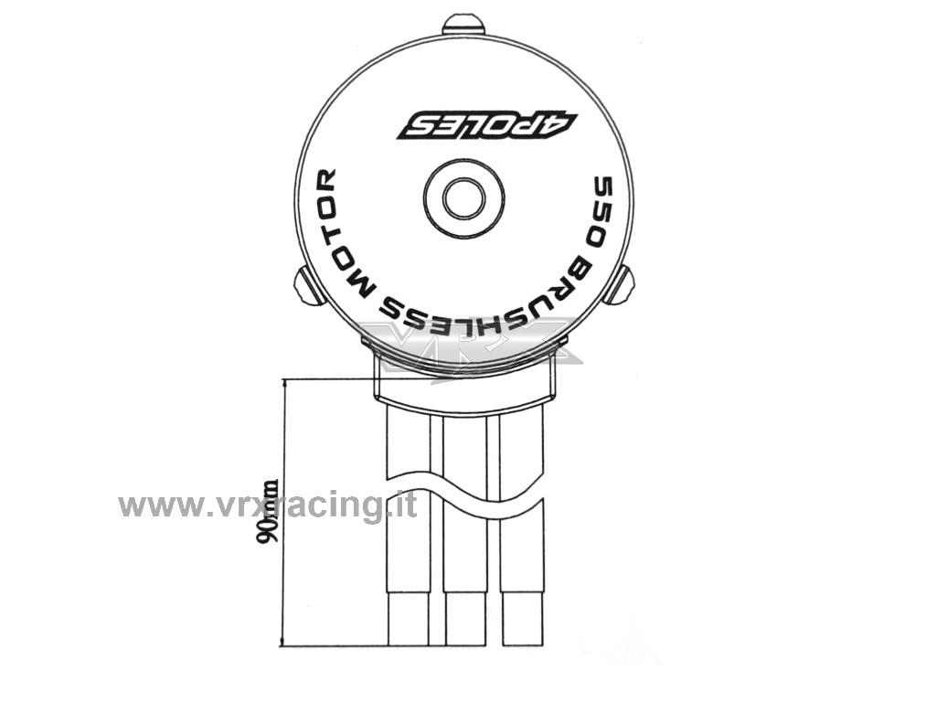 motore rocket 550  4y 1750kv brushless sensorless  albero
