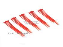 Fascette in plastica colore Rosso 25pz VRX