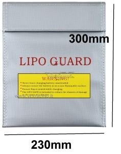 Borsa piatta protettiva ignifuga per batteria lipo in fibra di vetro 300*230mm