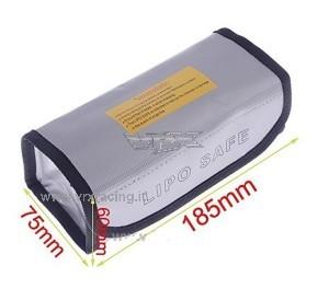 Borsa proteggi batteria Lipo 185x75x60mm