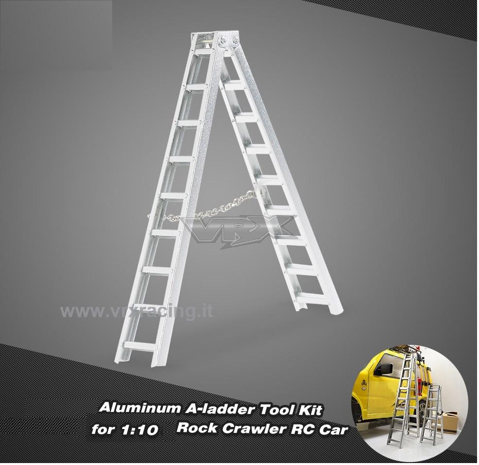 Accessorio mini scala Corta in metallo per modelli Rock Crawler